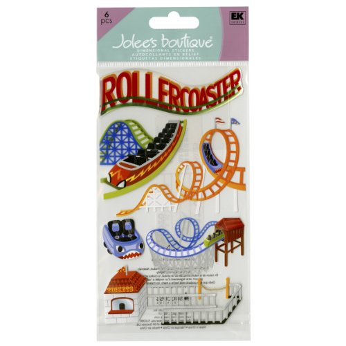 Jolee's Boutique Roller Coasters Dimensional Stickers