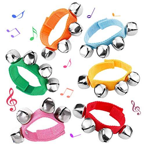 6 PCS Percussion Instruments, Wrist Bells Jingle Bells Musical Rhythm Toys