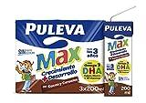 Puleva Bebida Láctea Cacao y Cereales, 3 x 200ml