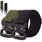 AIM Cloudbed 2 Pack Men Tactical Belt Adjustable Nylon Military Belt with Quick-Release