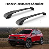 Cross Bars Roof Rack Compatible with 2014-2020 Jeep Cherokee 2.4L 3.2L Aluminum ABS Cargo Carrier Kayak Rooftop Luggage Crossbar Max Load 99 LBS