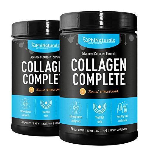 Colágeno Hidrolizado (en polvo) (Paquete de 2)| Collagen Complete un Suplemento de Colágeno | 10.000mg de Colágeno Hidrolizado Tipos 1, 2 y 3, Ácido Hialurónico y Más.