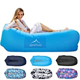 AlphaBeing Inflatable Lounger – Premium Inflatable Hammock for Beach, Traveling, Camping, Picnics – Blow Up Air Hammock for Kids and Adults – Outdoor Bean Bag Chair – Lightweight and Compact Design