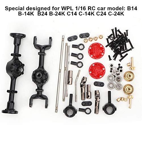 Dilwe RC Auto Achssatz, Metall Upgrade Teil Fit für WPL 1/16 B14 B24 B26 C14 C24 RC Auto Modifikation
