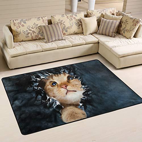 Jsteel Weiche Katzenteppich, waschbar, 90 x 60 cm, für Wohnzimmer, Wohnzimmer, Schlafzimmer, Läufer, multi, 180 x 120 cm