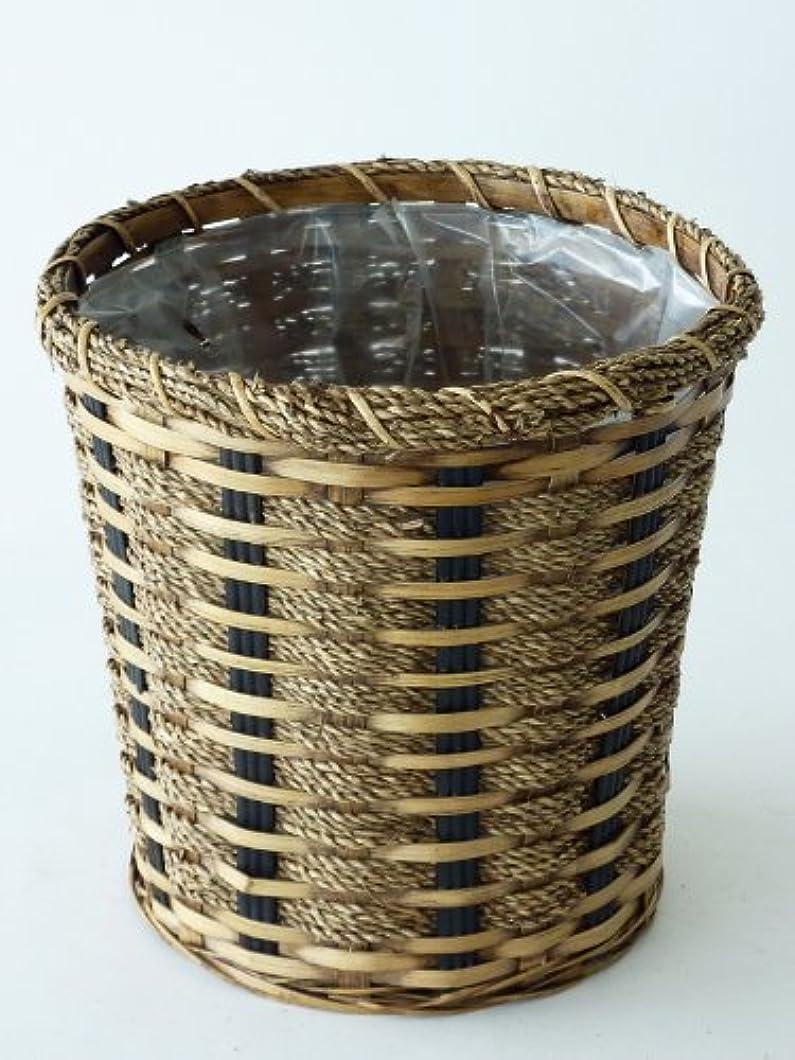 ハグ反響するスナップ鉢バスケット(7号) ナチュラル感たっぷりの鉢用のカゴです。お気に入りの観葉植物がオシャレなインテリアになります。