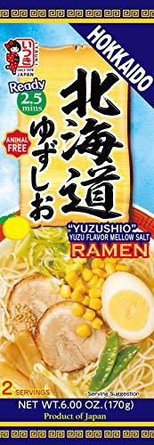 Itsuki Hokkaido 'Yuzushio' Yuzu Flavor Mellow Salt Ramen (Animal Free) 2 Servings 170g