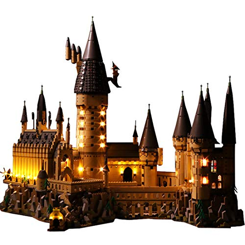 Seciie LED Licht Set für Harry Potter Schloss Hogwarts - LED Beleuchtung Kit Kompatibel mit 71043 - Modell Nicht Enthalten