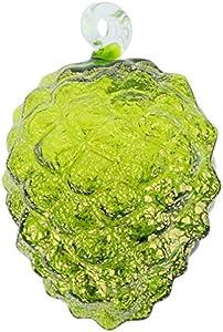 GlassOfVenice Murano - Piña de Cristal para árbol de Navidad, Color Verde