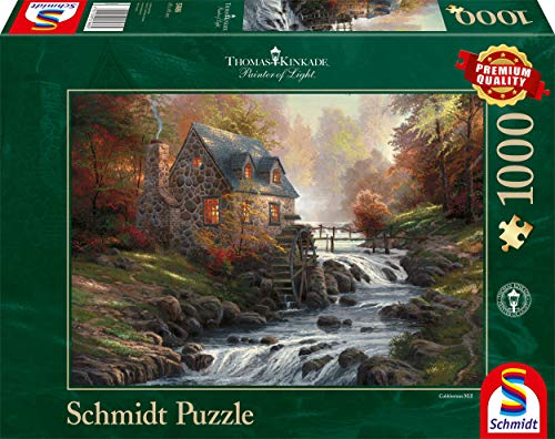 """Schmidt Spiele Thomas Kinkade """"Il vecchio mulino""""- Puzzle da 1.000 pezzi"""