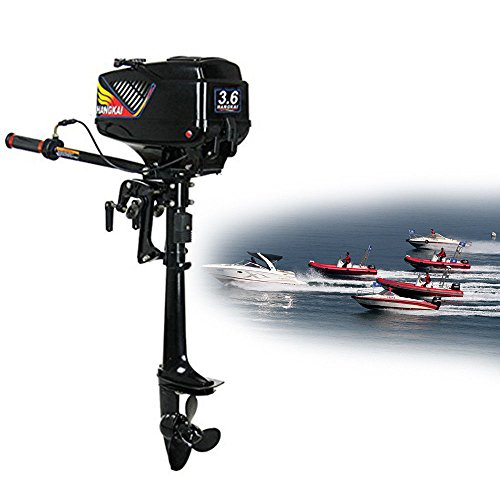 New NOPTEG 3.6HP 2 Stroke Power Outboard Motor Fishing Boat Engine Water Cooling CDI System ¡­