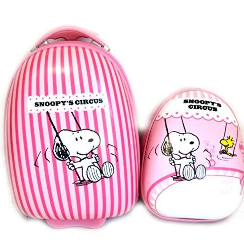 + maleta abs mochila 'Snoopy'rosa (41 cm).