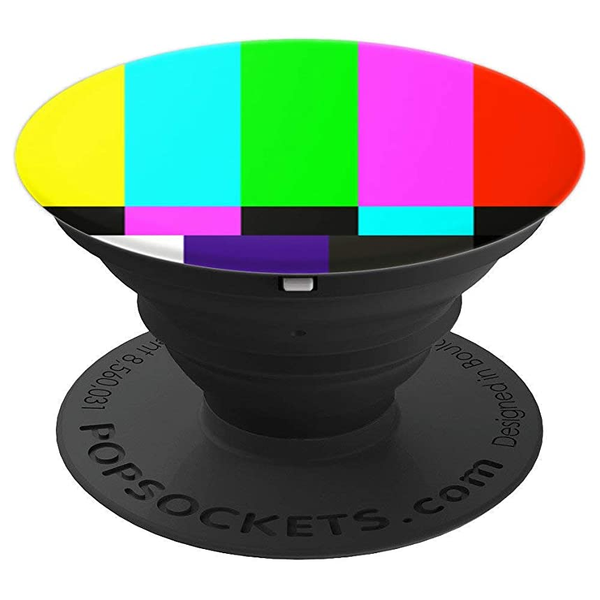 Off Air Tv Color Bars Cool 90s 80s Filmmakers Retro gifts - PopSockets Grip and Stand for Phones and Tablets