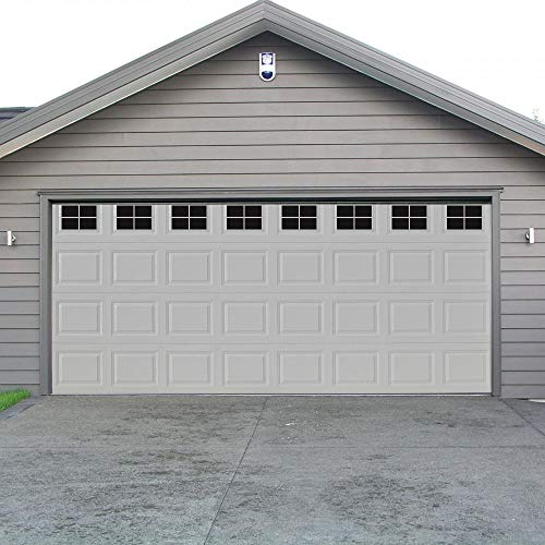 WINSOON Decorative Magnetic Garage Door Window Panels Vinyl Thick Faux Tinted Glass Decals, Pre Cut 32 Sheets for 2 Car Garage