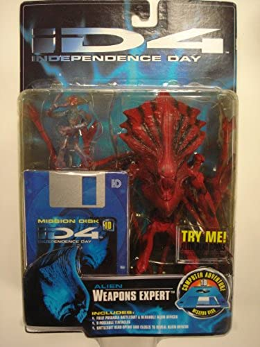 ID4 Independence Day   Alien Weapons Expert 9 Figure Trendmasters