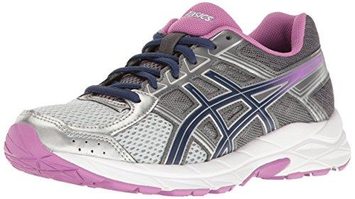 ASICS Women's Gel-Contend 4 Running Shoe, Silver/Campanula/Carbon, 8.5 M US