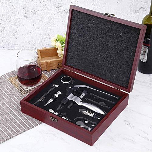 WZM Sacacorchos Sacacorchos de Vino de Cabeza de Conejo Multifuncional Creativo Abrebotellas de Acero Inoxidable Caja de Regalo de Vino Set abrelatas