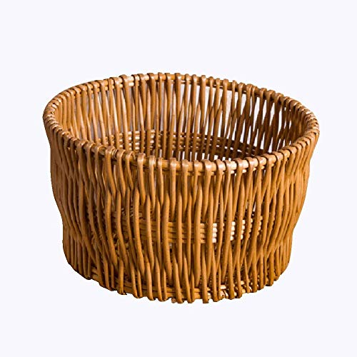 JY Wicker Fruit Basket Storage Bucket, for Home/Outdoor gvcvcxvdfg/C / 40 * 22cm