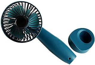 New Handheld Fan 3 Wind Modes instelbare snelheden USB oplaadbare Reizen Handy Fan met afneembare Base zcaqtajro (Color : ...