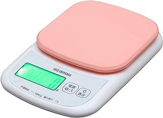 アイリスオーヤマ キッチンスケール デジタルタイプ はかり 1kg用 1g ピンク バックライト付 料理 PKC-101-P