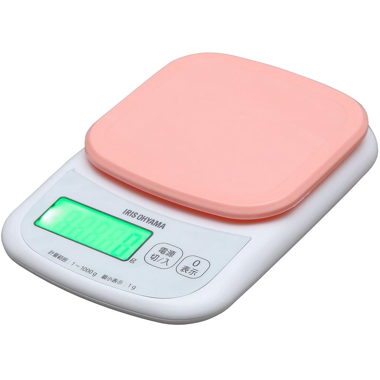アパート解読するチャンピオンシップアイリスオーヤマ キッチンスケール デジタルタイプ はかり 2kg用 0.1g ピンク バックライト付 料理 PKC-201-P