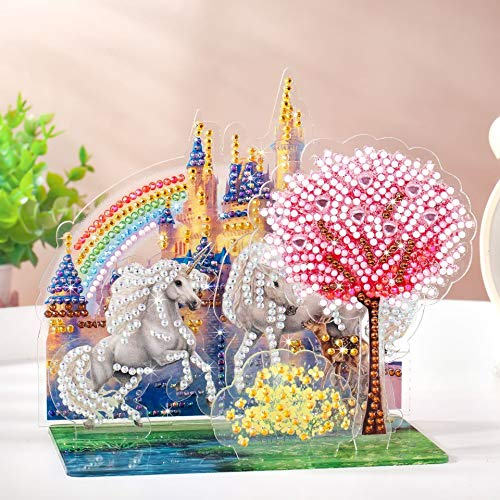 Wenye.Z DIY 5D Diamond Painting Kits for Kids,Unique Christmas Gift for Kids, Diamonds Art,Paint with Diamonds by Numbers, Christmas Decor, Best Creativity Birthday Gift for Children.