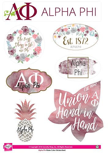 Alpha Phi - Sticker Sheet - Watercolor Theme