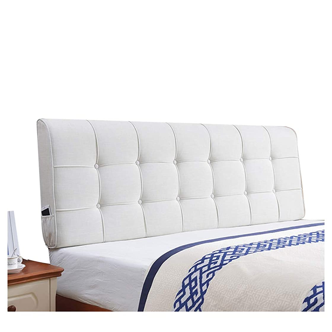 ピラミッド要求する範囲PENGFEI クッションベッドの背もたれ抱き枕 亜麻 壁の装飾 衝突防止、 マジックテープ固定、 10色、 6サイズ (色 : ベージュ, サイズ さいず : 200CM)