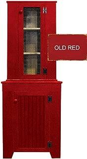 Sawdust City Kitchen Corner Hutch Set (Old Red)