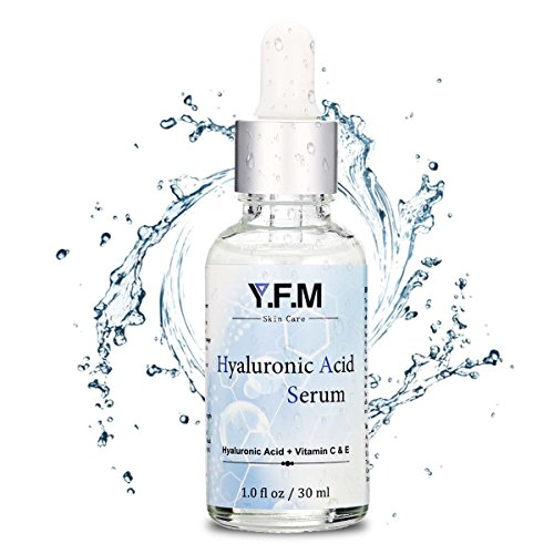 Y.F.M Serum Facial con Ácido Hialurónico y Vitamina C & E para la Cara 30 ml - Suero Facial Antienvejecimiento y Antiarrugas
