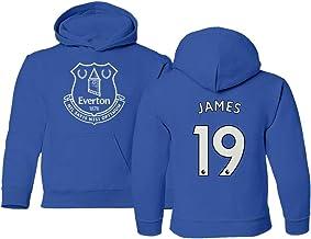 Spark Apparel Merseyside Blue #19 James Rodriguez Youth Crewneck Sweater