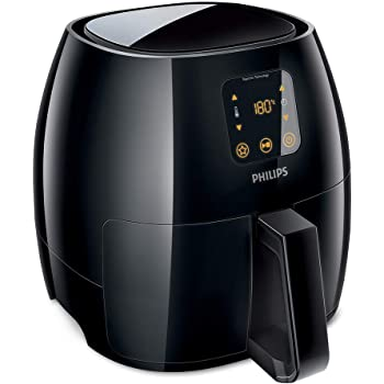 Philips Avance Collection Air Fryer, Healthy Cooking, Baking and Grilling, Extra-Large 1.2KG Capacity For Family, Plastic, 2100 W, 3 liters, Black, HD9240/90