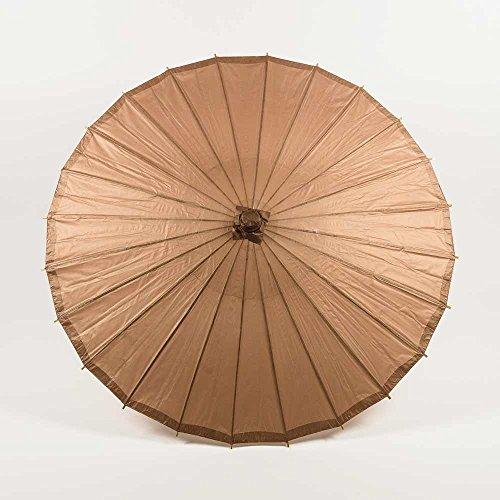 "Quasimoon PaperLanternStore.com 28"" Copper Gold Paper Parasol Umbrella"