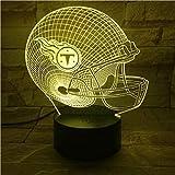 3D Rugby Baseball Golf Serie Kreatives Muster Nachtlicht Schlaflicht Illusionslampe 7 Farbwechsel Dekorative Lichter Kinderspielzeug Weihnachtsgeschenk Touch mit Fernbedienung