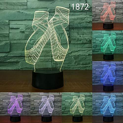 EgBert Lampada da Illusione Ottica 3D Night Light LED, 7 Colori Che cambiano Touch Desk Lamp per Bambini Regali di Compleanno