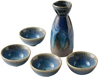 Sizikato 5-teiliges Ofen-Wechsel-Keramik-Sake-Set, bestehend