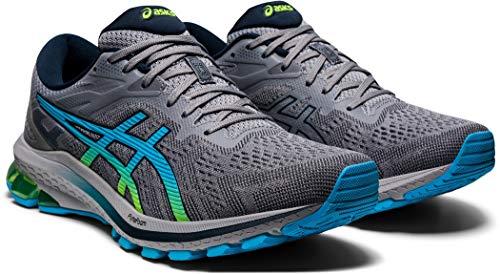 ASICS Gt-1000 10 Road Running Shoe da Uomo, (Sheet Rock Hazard Green), 42.5 EU