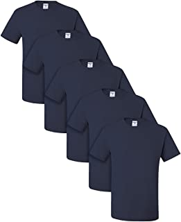 Dri-Power Active Adult Tee, XL, J. Navy (Pack of 5)