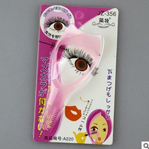 Fengh Outil cosmétique utile pour mascara eyeliner guide peigne à cils outil de carte Rose
