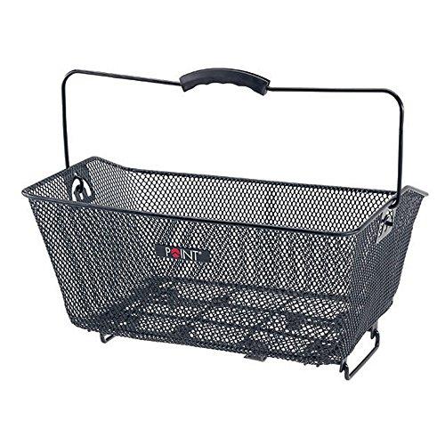 Point Hinterradkorb Ergogriff-Gepäckträgerklemmbefestigung, schwarz, 40x30x17cm