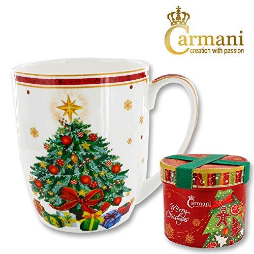 Carmani - Tazza In Porcellana Decorata Con Un Tema Di Natale
