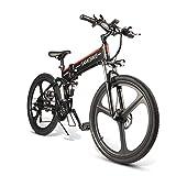 26'Bicicleta De Montaña De Aluminio Plegable Bicicleta Eléctrica 25 Km/h 48V 10 Ah Carga Máxima 90kg Eléctrica Ebike Pantalla LCD