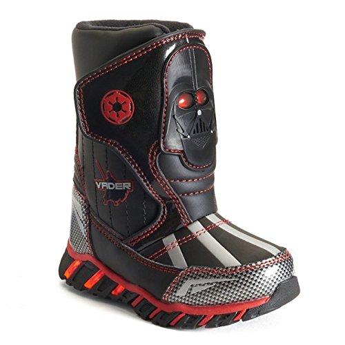 DisneyCold Weather Boots - Garçons Tout-petits Bottes de neige Garçon , noir (noir), 23 M EU tout petit