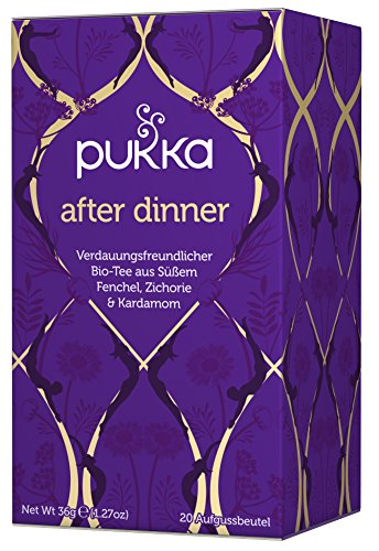 After Dinner PUKKA Tee BIO 4 Packungen à 20 Teebeutel
