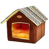 powerking grotta per gatti, cuccia per animali domestici pieghevole e letto per gatto con cuscino, cuccia per gatti (marrone)