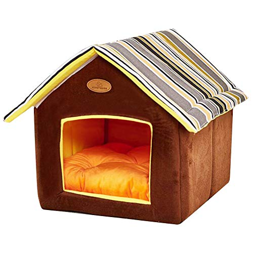 ShellKingdom Dog House, Foldable Pet Cat and Dog Bed with Cushion Pet Puppy Indoor House(Grey)