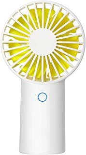 DEXRON Mini Ventilador, Ventilador portátil USB al Aire Libre, Ventilador Personal Recargable 4000Mah, Ventilador de Escritorio de refrigeración, 3 Modelos para casa, Oficina, Viajes al Aire Libre