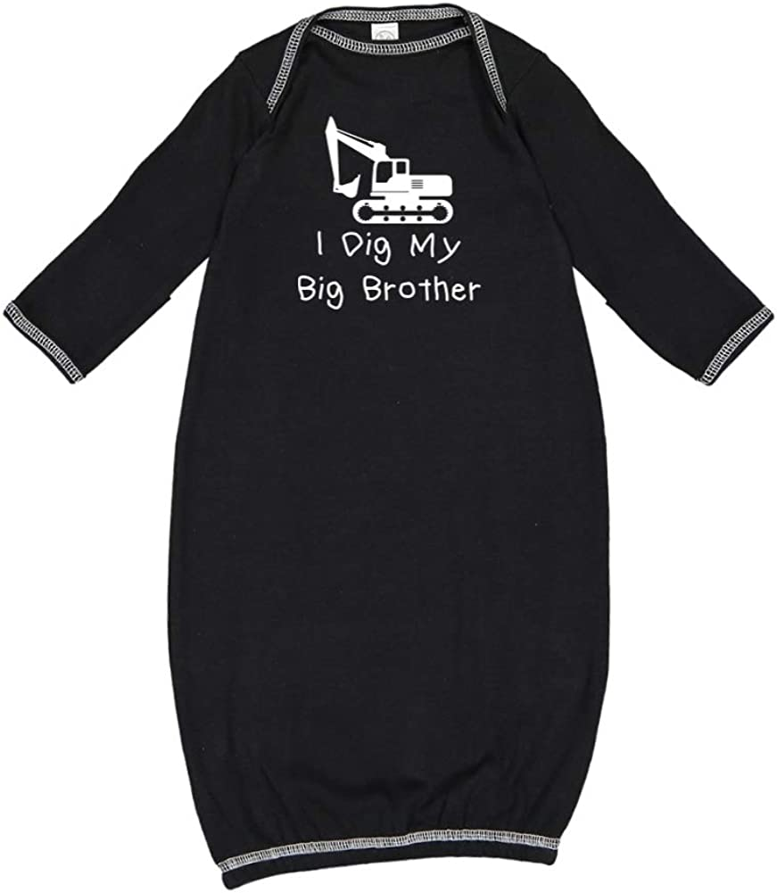 I Dig My Big Brother Baby Cotton - Sleeper Manufacturer OFFicial shop Seattle Mall Gown