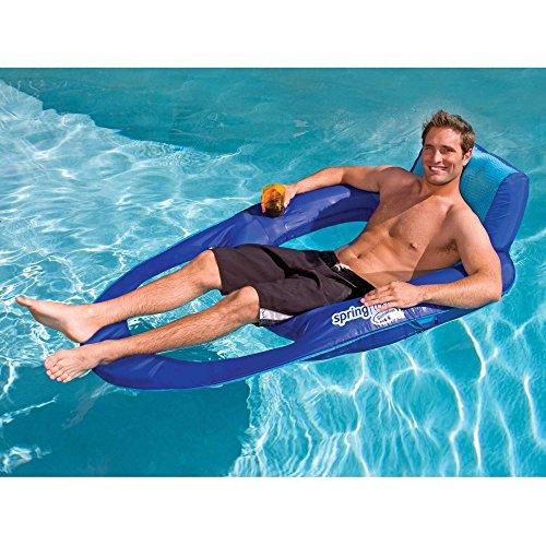 SwimWays Spring Float Recliner XL 2 Pack , Blue