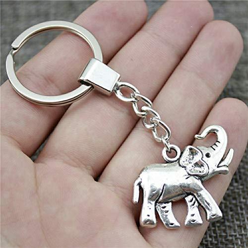 N/ A modesieraad heren sleutelhanger DIY metalen ketting olifant 33 x 30 mm brons antiek hanger geschenk